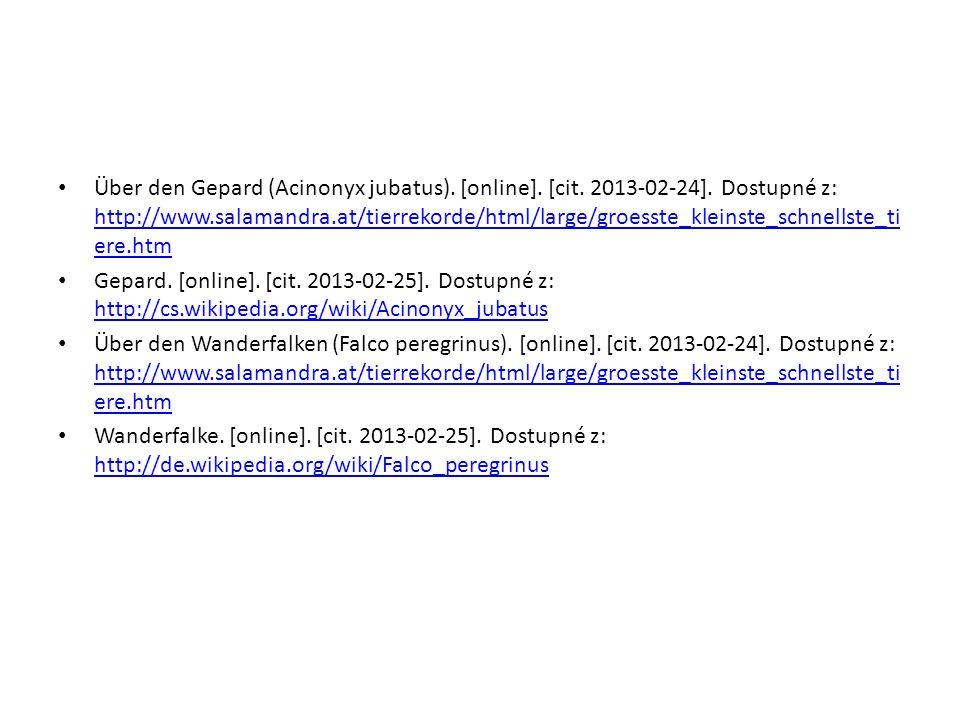 Über den Gepard (Acinonyx jubatus). [online]. [cit. 2013-02-24]